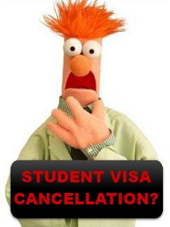 Student visa cancellation