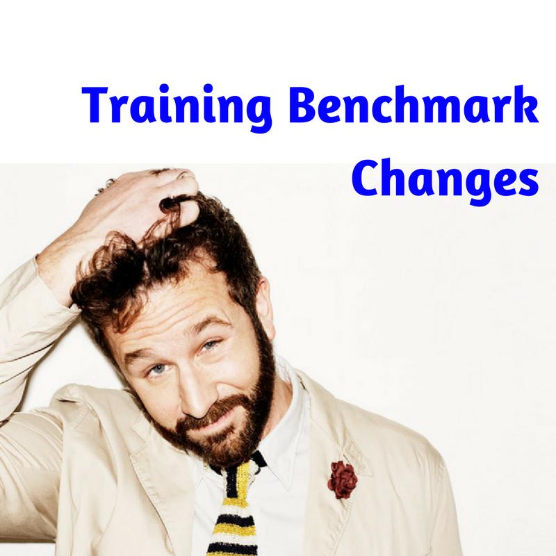 Training Benchmark Changes