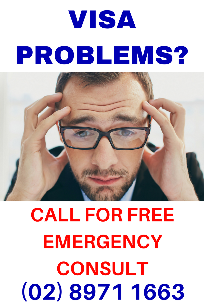 Emergency consult visa problems